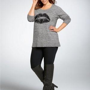 Torrid Lips Sweater Size 0